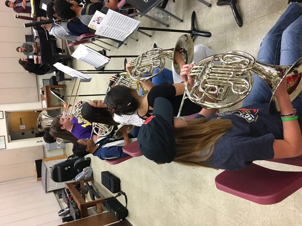 French Horn at Rehearsal