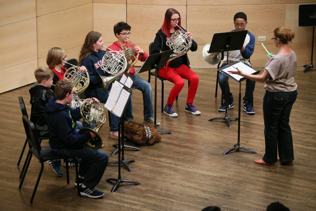 French Horn Ensemble Performance